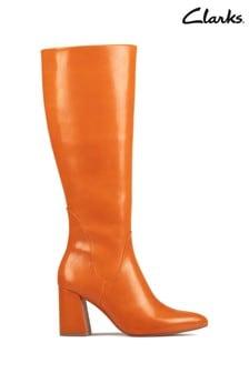 Clarks Burnt Orange Laina85 Hi Boots