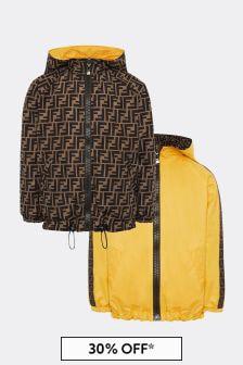 Kids Yellow Reversible Jacket