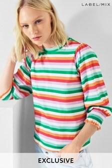 Next/Mix Shirred Cuff T-Shirt