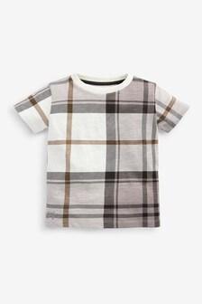 White Short Sleeve Check T-Shirt (3mths-7yrs)