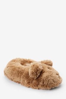 Neutral Bonnie Bear Slippers