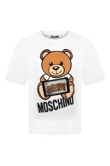 Moschino Kids White T-Shirt