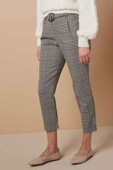 Black/White Check Trousers