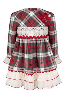 Miranda Girls Red Check Dress