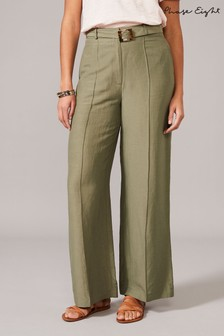 Phase Eight Green Issy Seam Trousers