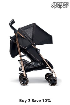 Black And Rose Gold Mamas & Papas Tour3 Black And Rose Gold Buggy