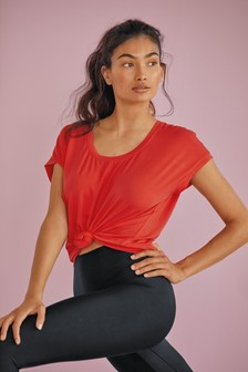 Coral Short Sleeve Slouch Sports Top