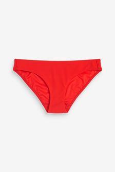 Red High Leg Bikini Briefs