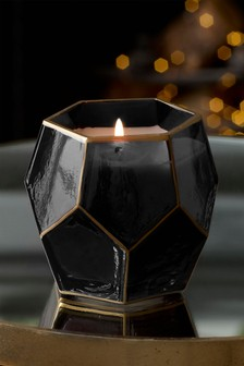 Faceted Black Onyx Candle