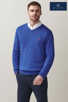 Crew Clothing Company Cotton V-Neck Jumper