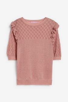 Pink Sparkle Ruffle T-Shirt