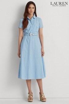 Lauren Ralph Lauren Blue Rowen Shirt Dress