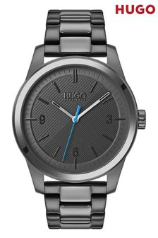 HUGO Create Grey IP Bracelet Watch