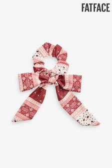 FatFace Red Patchwork Tie Scrunchie
