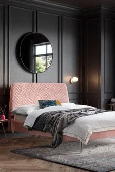 Opulent Velvet Blush Hamilton Bed