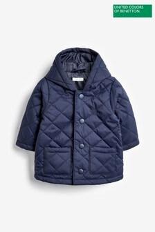 Benetton Navy Quilted Coat