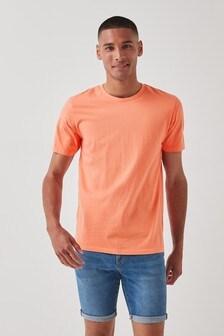 Orange Slim Fit Crew Neck T-Shirt