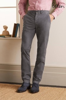 Boden Grey Lightweight Slim Chinos