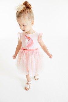 Pale Pink Party Dress (3mths-8yrs)