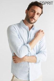 Esprit Blue Long Sleeved Woven Shirt
