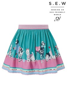 Monsoon S.E.W Nessie Dog Border Print Skirt