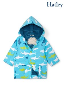 Hatley Blue Great White Sharks Baby Raincoat