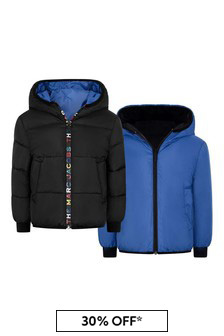 Boys Black/Blue Reversible Padded Jacket