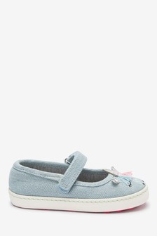 Denim Unicorn Mary Jane Pumps (Younger)
