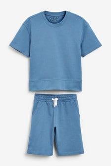Blue Shorts & Top Lounge Set (3-16yrs)