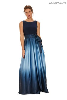 Gina Bacconi Indie Ombre Satin Maxi Dress
