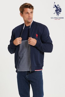 U.S. Polo Assn. Zip Through Sweat Bomber Jacket