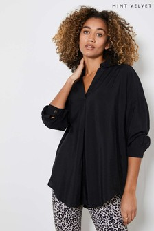Mint Velvet Black Oversized Shirt