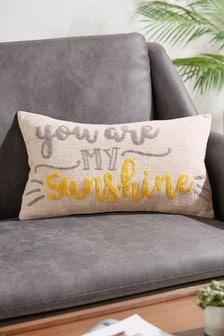 Ochre Yellow You Are My Sunshine Cushion