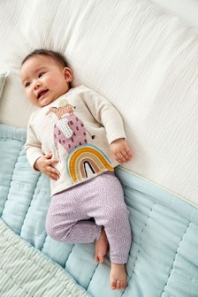 Multi Character Crew And Leggings Set (0mths-2yrs)