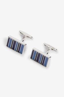 Silver Stripe Cufflinks
