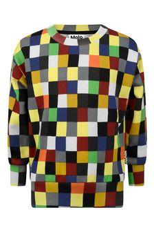 Boys Multicoloured Organic Cotton Pixels Sweater