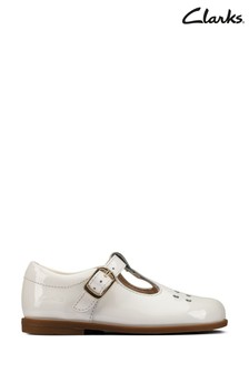 Clarks Off White Lea Drew Play T Shoes