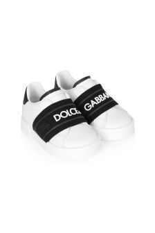 Dolce & Gabbana Kids Dolce & Gabbana Baby Boys White Leather Trainers