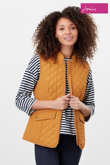Joules Yellow Minx Quilted Gilet