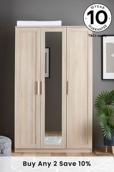 Oak Effect Flynn Triple Wardrobe