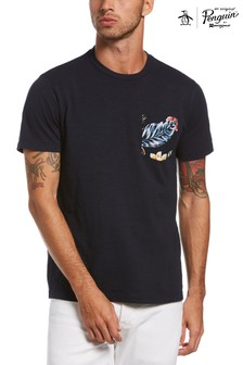 Original Penguin® Blue Floral Pocket T-Shirt