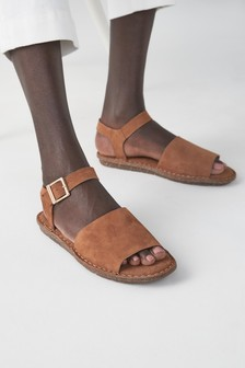 Tan Two Part Sandals