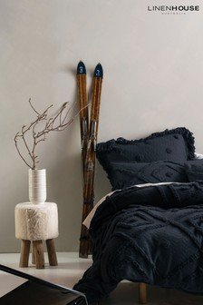 Adalyn Geo Textured Duvet Cover and Pillowcase Set by Linen House