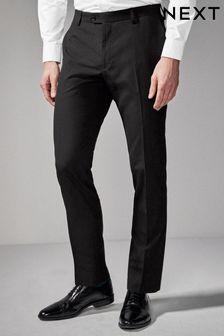 Black Slim Fit Suit: Trousers