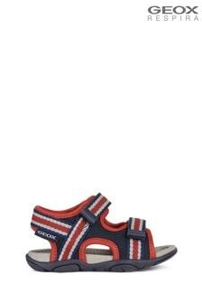 Geox Baby Boy's Agasim Navy/Red Sandals