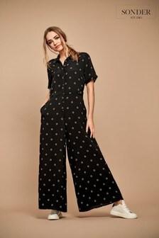 Sonder Studio Black Star Culotte Jumpsuit
