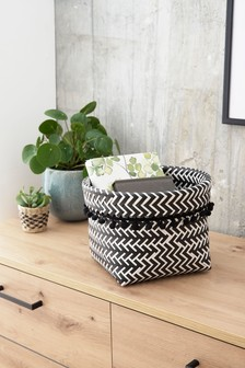Monochrome Plastic Storage Basket