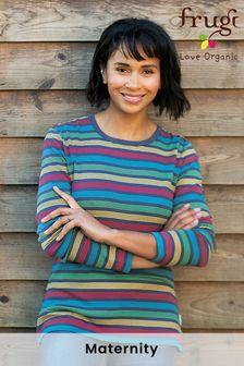 Frugi Organic Cotton Womens Rainbow Long Sleeve Top