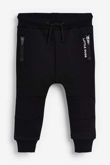 Black Utility Joggers (3mths-7yrs)