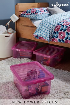 Set of 3 Crystal 16L Boxes by Wham